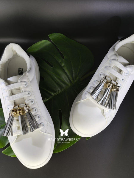 silver sneaker tassels (6 pieces) - Raw Strawberry