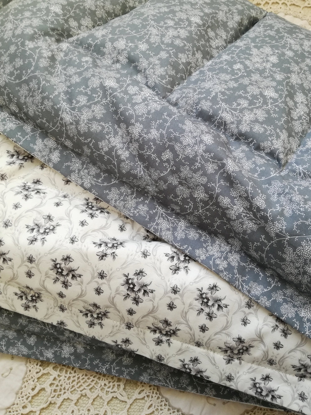 Grey & White Mini Eiderdown - IN STOCK