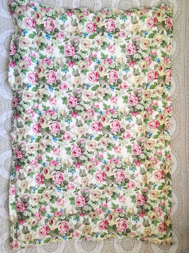 Floral & Vintage Green Mini Eiderdown - IN STOCK