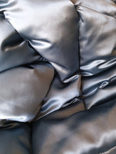Blue Grey 100% Silk Satin Eiderdown