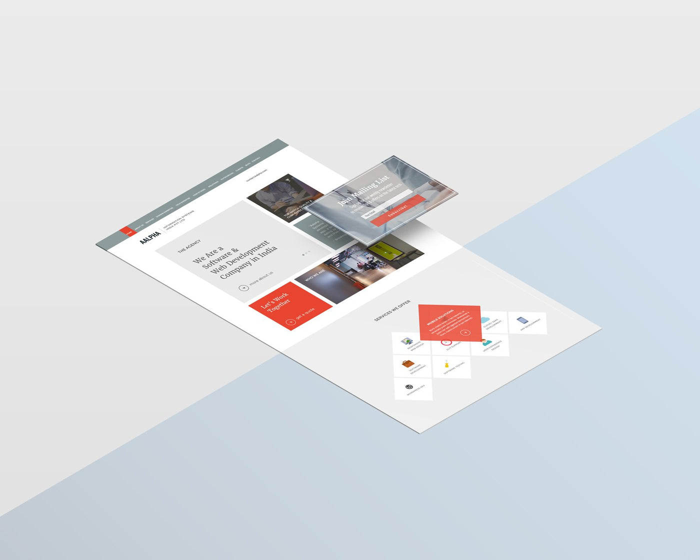 Website & UI design for IT company