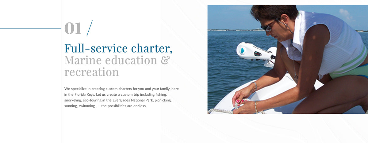 Wordpress web design for charter company