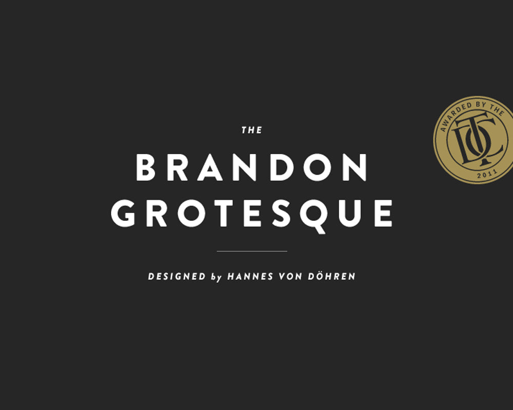 Brandon grotesque fonts for your headlines