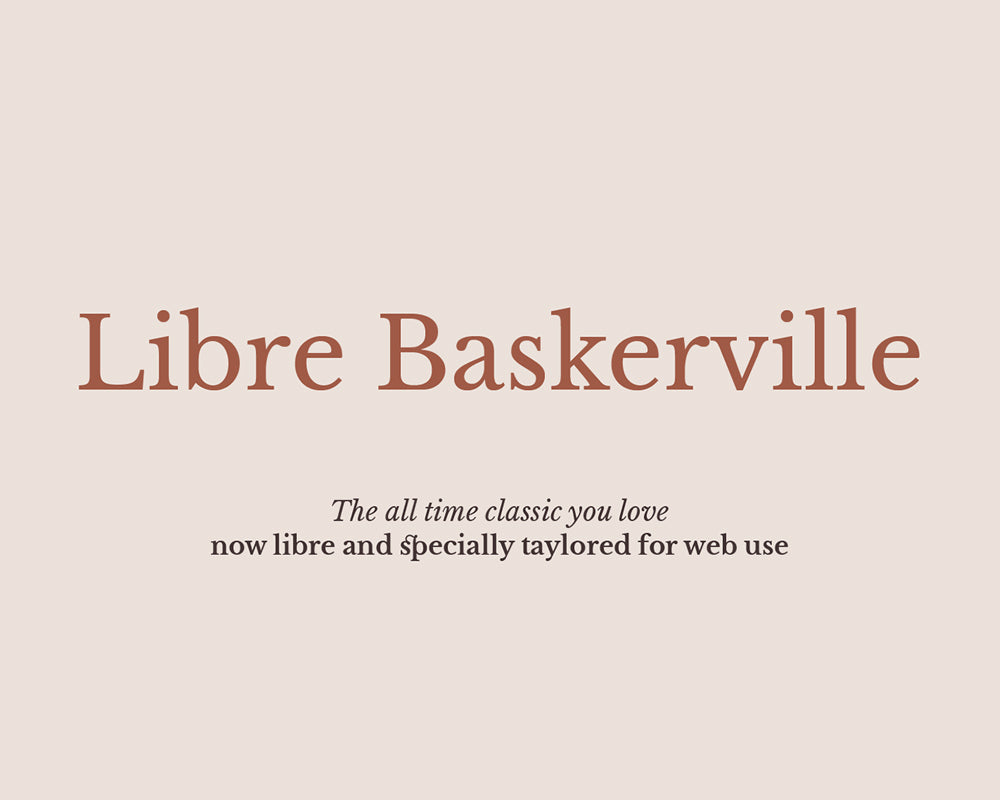 free & premium font download for headines typography libre bakersville