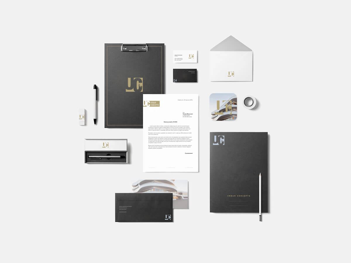 Custom brand identity design for architecture firm