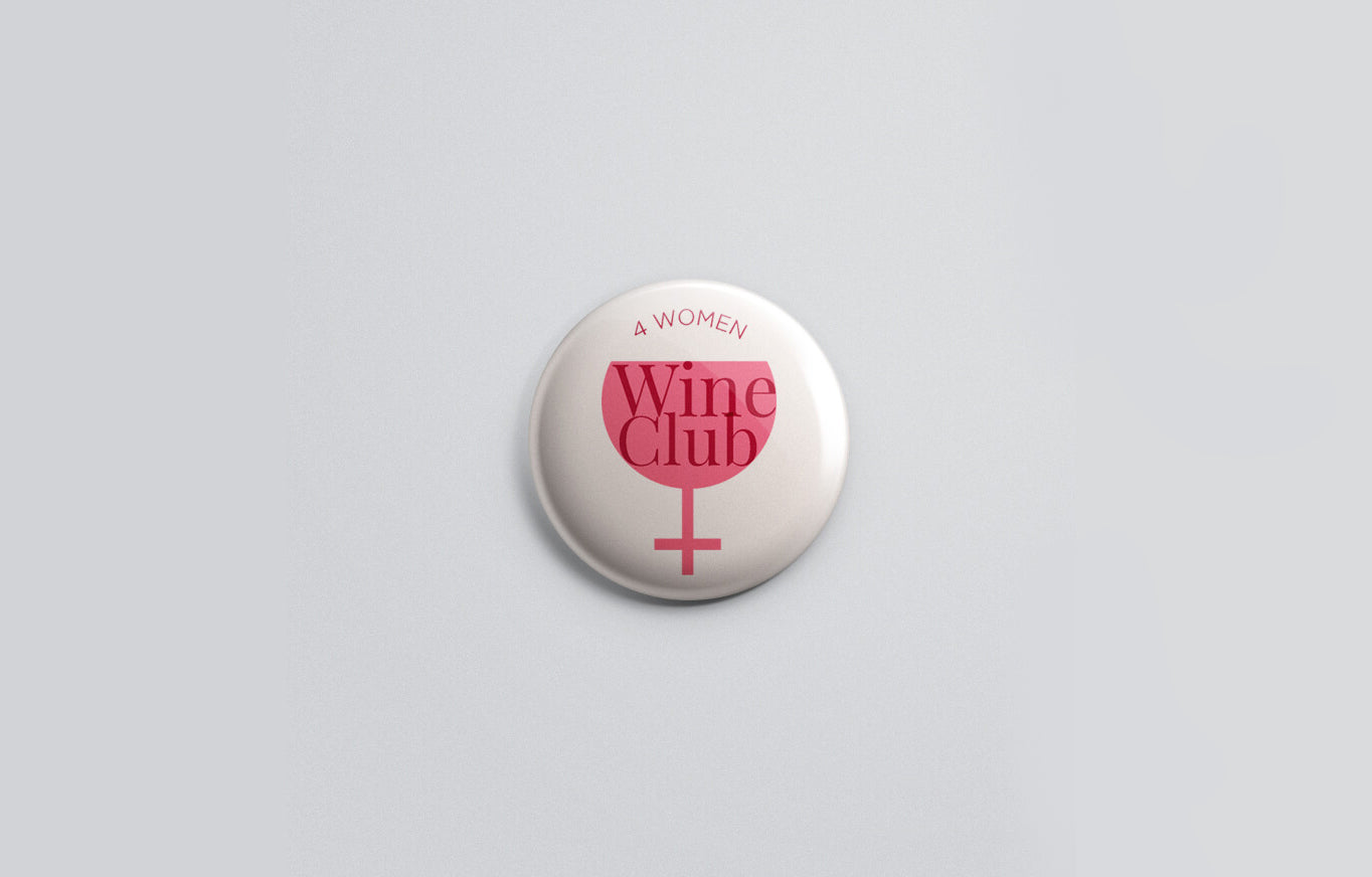 We designed a logo around the concept that the club is exclusively for 'Women Who love Wine.
