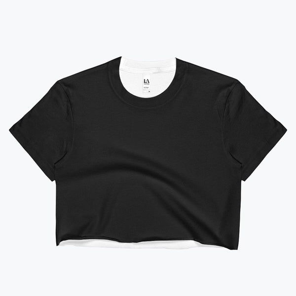 Black Ladies Crop Top