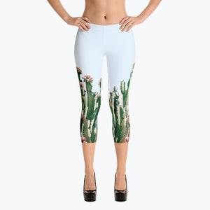 Blush Cactus Capri Leggings