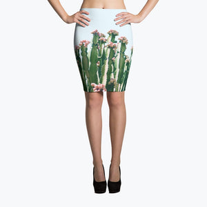 Blush Cactus Pencil Skirt