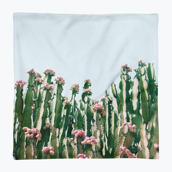 Blush Cactus Square Pillow Case only