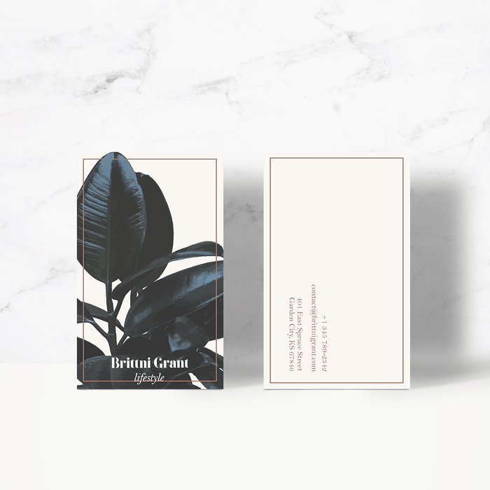 Botanical Business Card Template