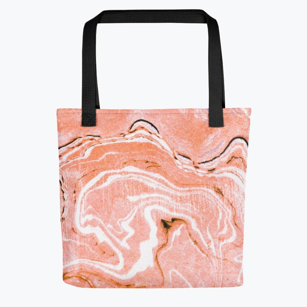 Coral Blush Marble Tote bag