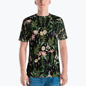 Dark Botanical Garden Men's All-Over T-shirt