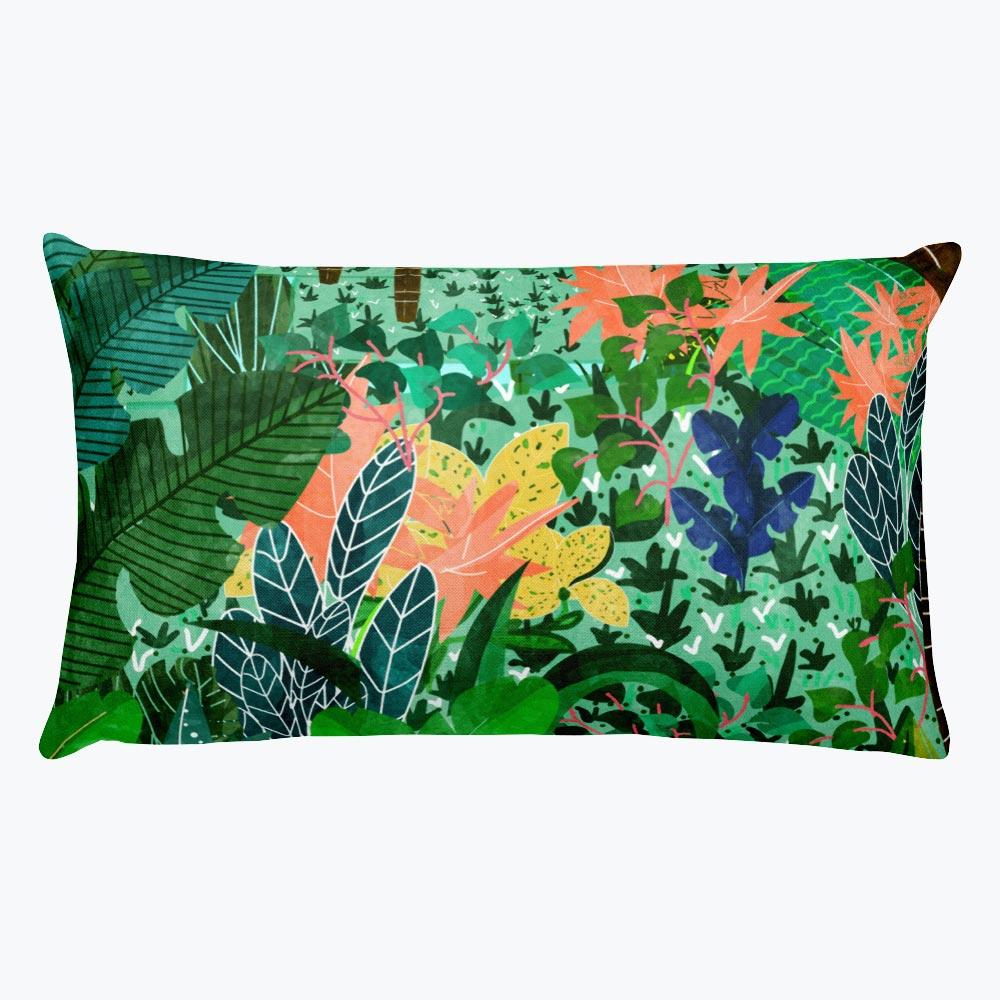 Dense Forest Rectangular Pillow