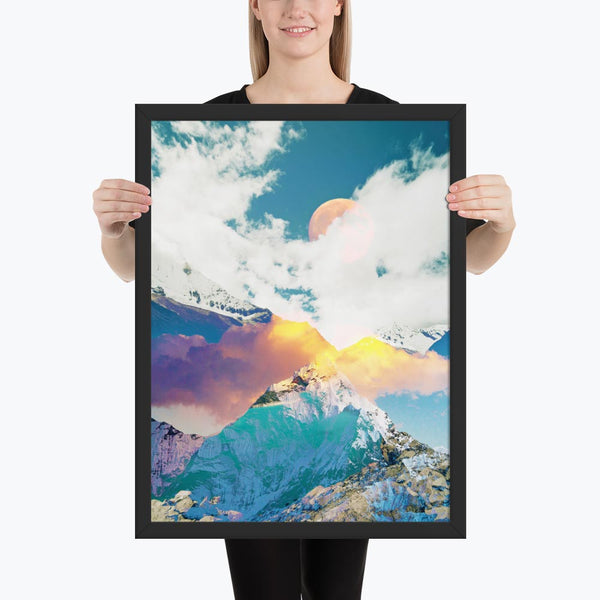 Dreaming Mountains Framed Poster
