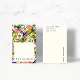 Earthy Floral Business Card Template