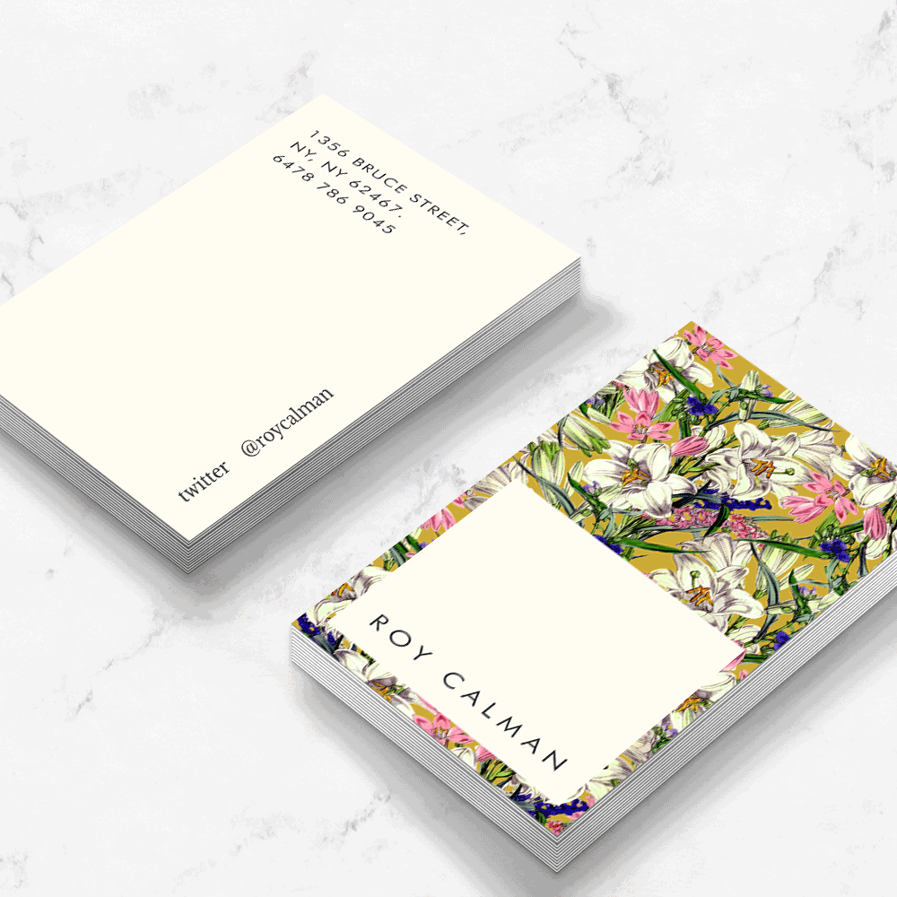 Earthy floral business card template cheaphphosting Gallery