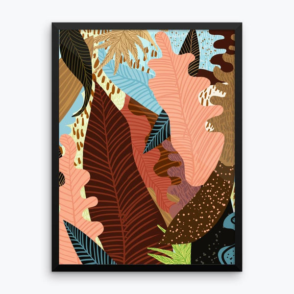 Earthy Forest Framed Poster