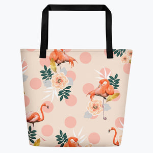 Flamingo Jazz Beach Bag