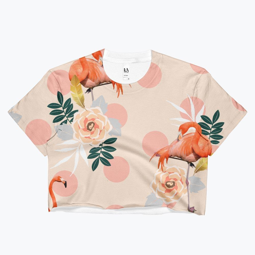 Flamingo Jazz Ladies Crop Top
