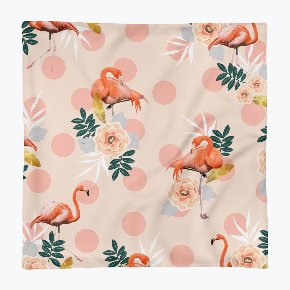 Flamingo Jazz Square Pillow Case only
