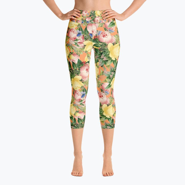 Flora Yoga Capri Leggings