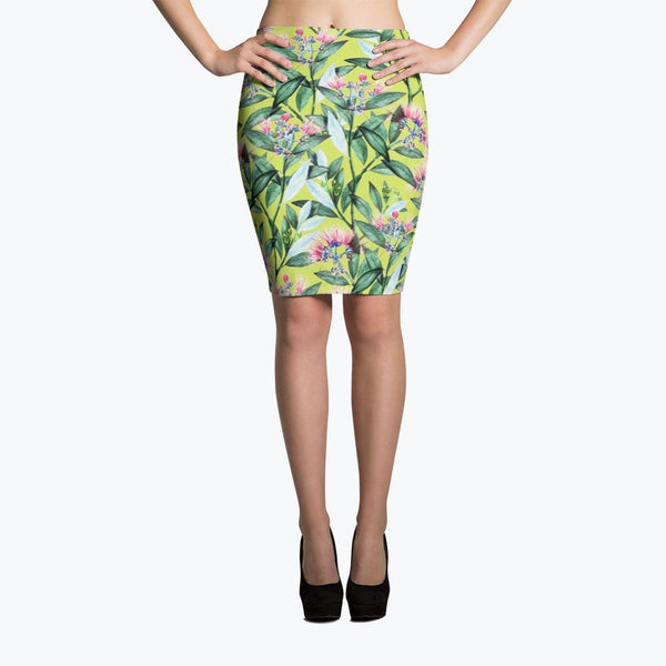 Floral Cure Pencil Skirt