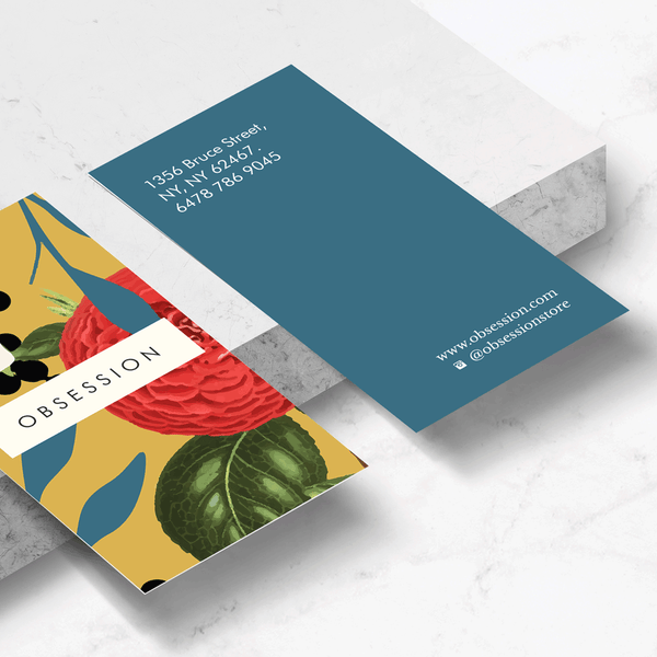 Floral Obsession Business Card Template