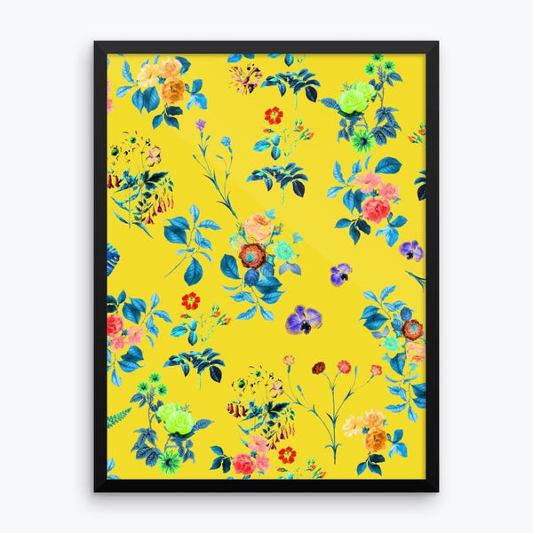 Floral Shower Framed Poster