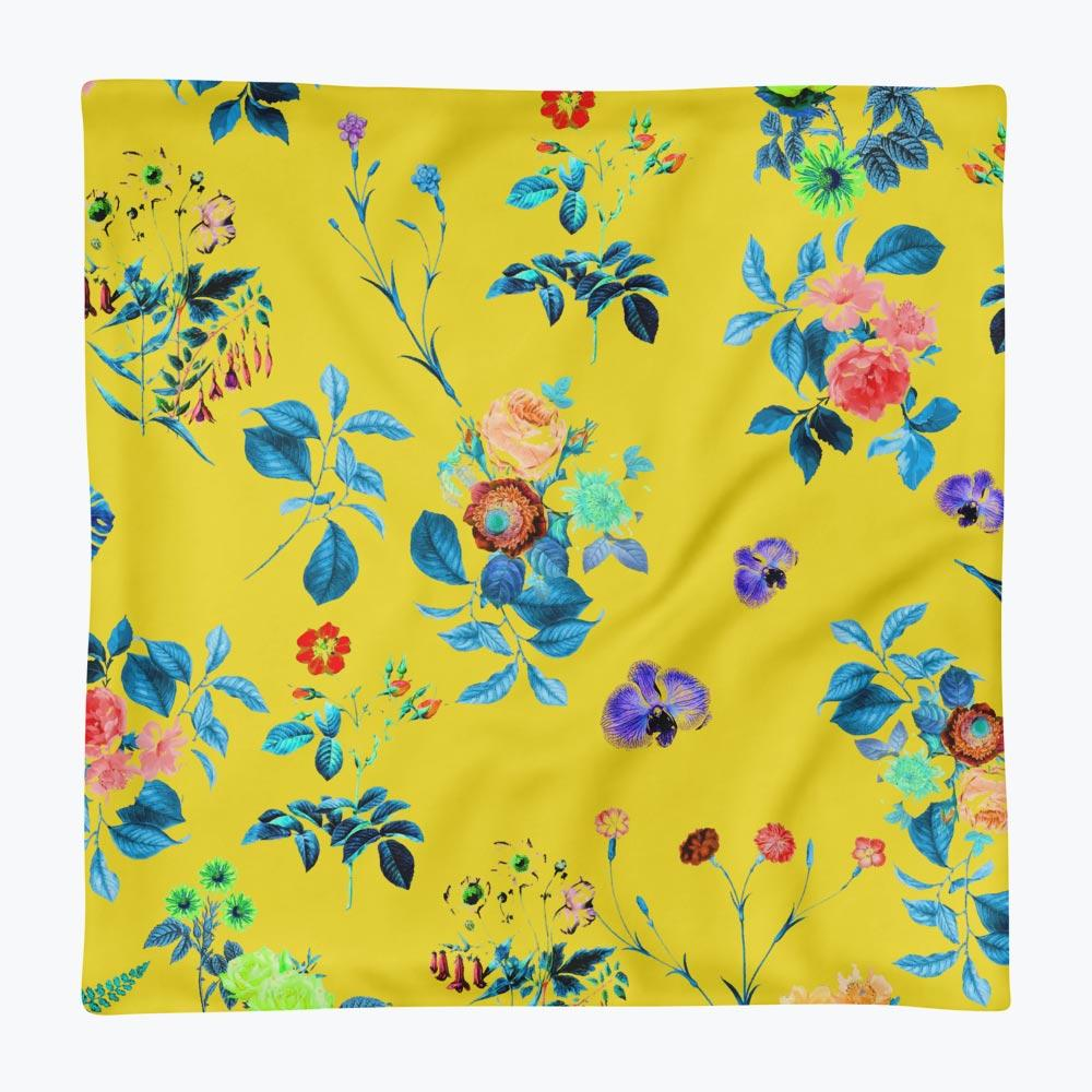 Floral Shower Square Pillow Case only