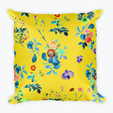 Floral Shower Square Pillow