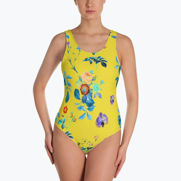 Floral Shower One-Piece Swimsuit
