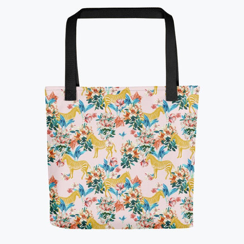 Floral and Zebras Tote bag