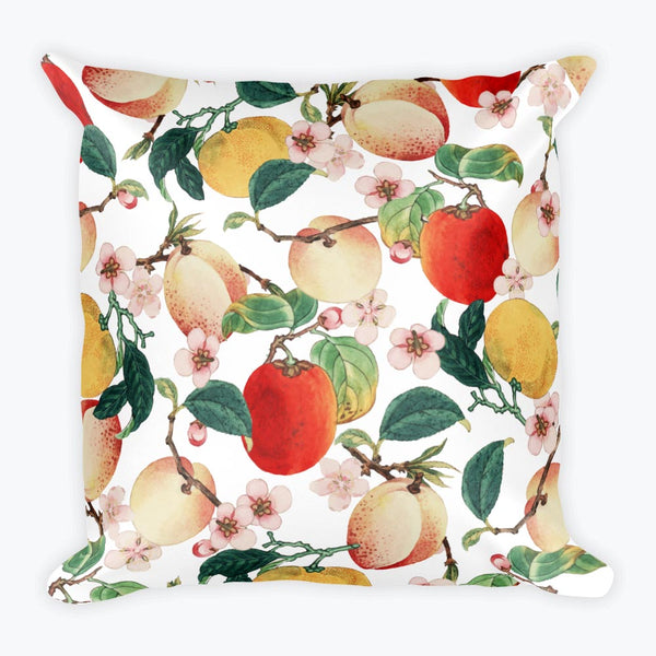 Fruity Summer Square Pillow