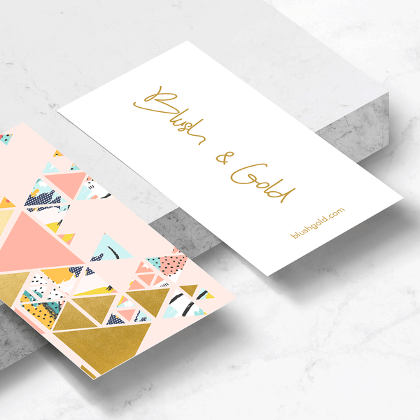 Gold Abstraction Business Card Template