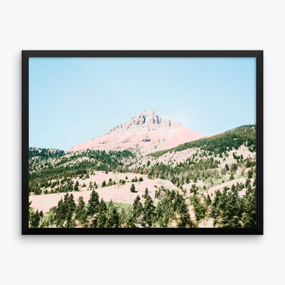 Happy Mountain Framed Poster