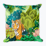 Jungle Tiger Square Pillow