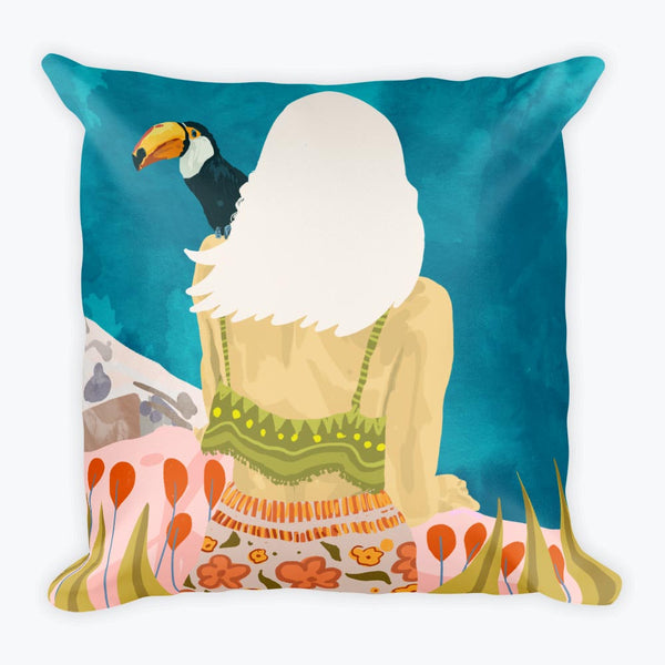 Longing Square Pillow