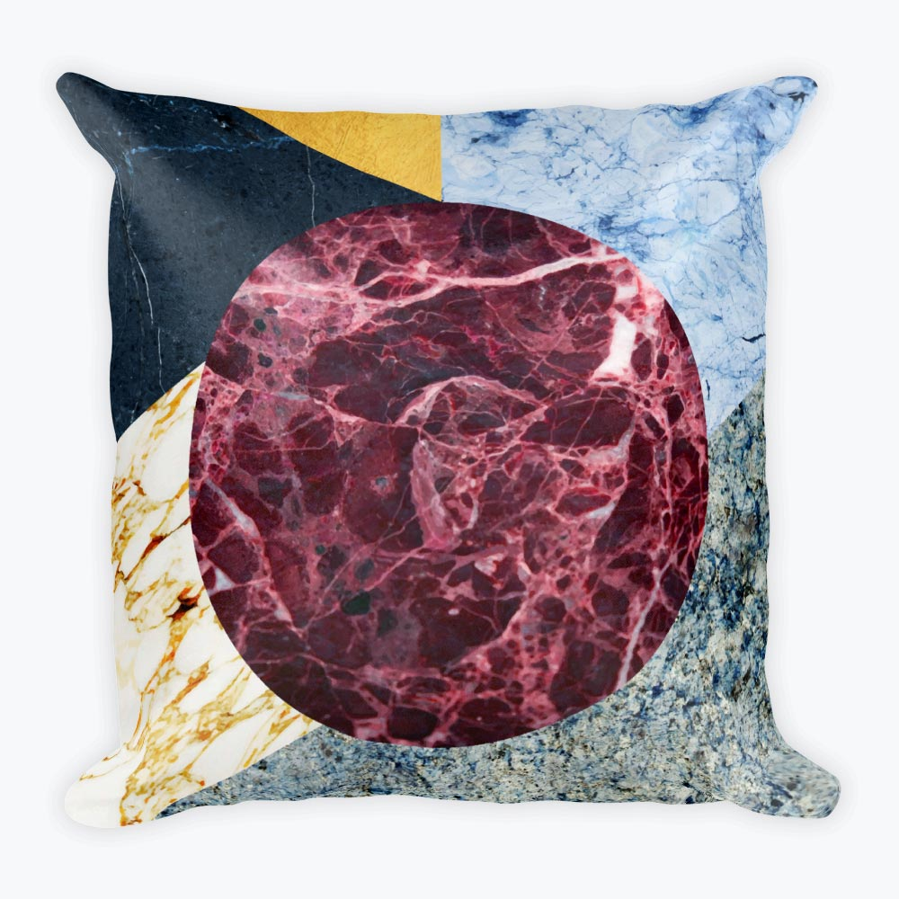 Marble Ecstasy Square Pillow