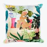 Miss Blogger Square Pillow