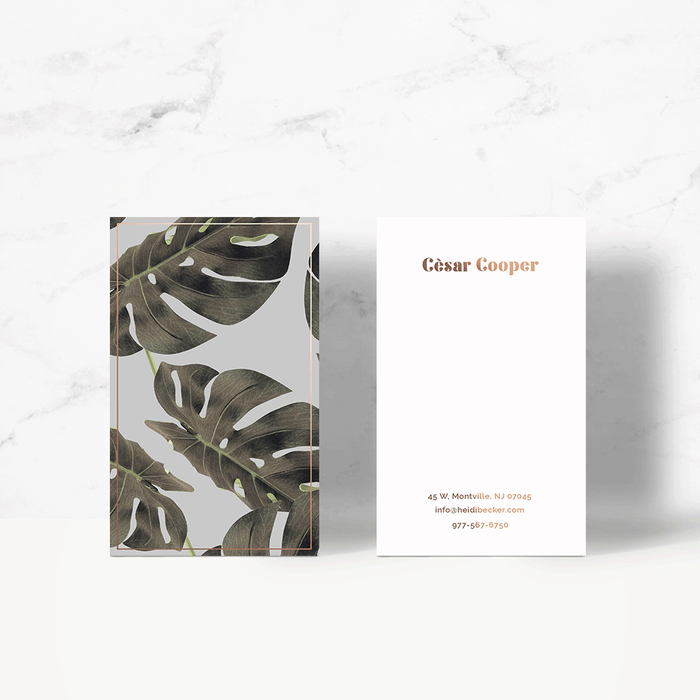 Monstera Art Business Card Template