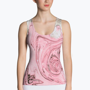 Nude + Pink Marble Sublimation Tank Top