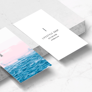 Ocean + Pink Business Card Template
