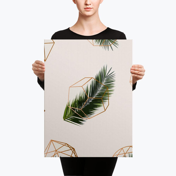 Palm and Geometry Canvas