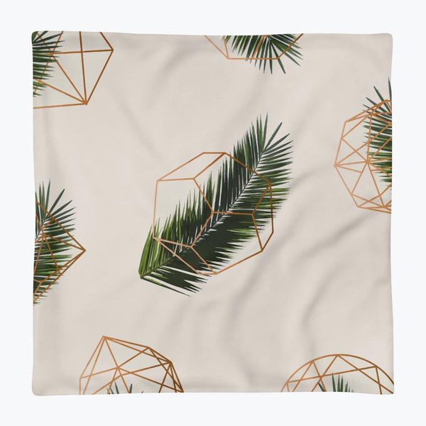 Palm and Geometry Square Pillow Case only