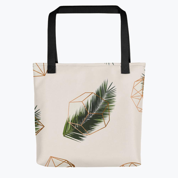 Palm and Geometry Tote bag