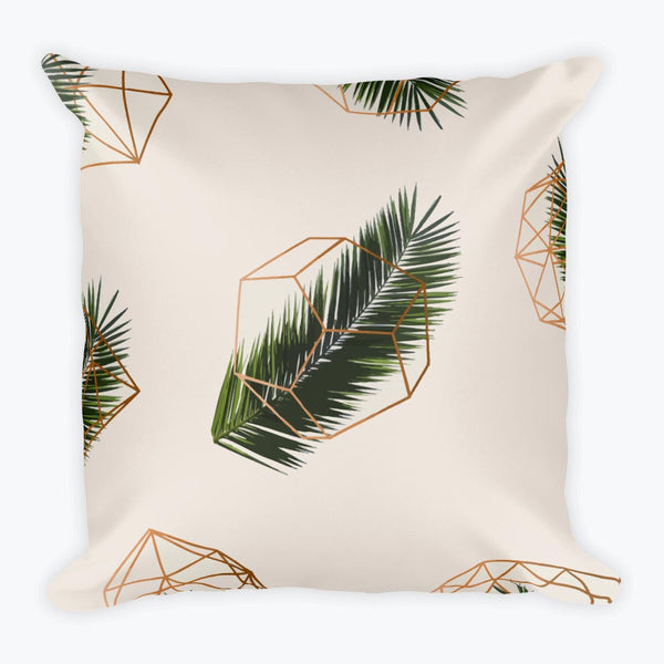 Palm and Geometry Square Pillow