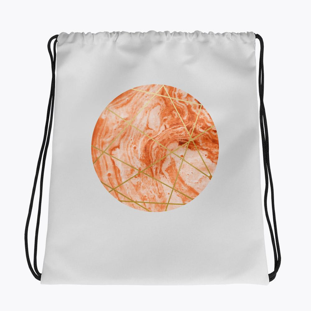 Peach Sphere Drawstring bag