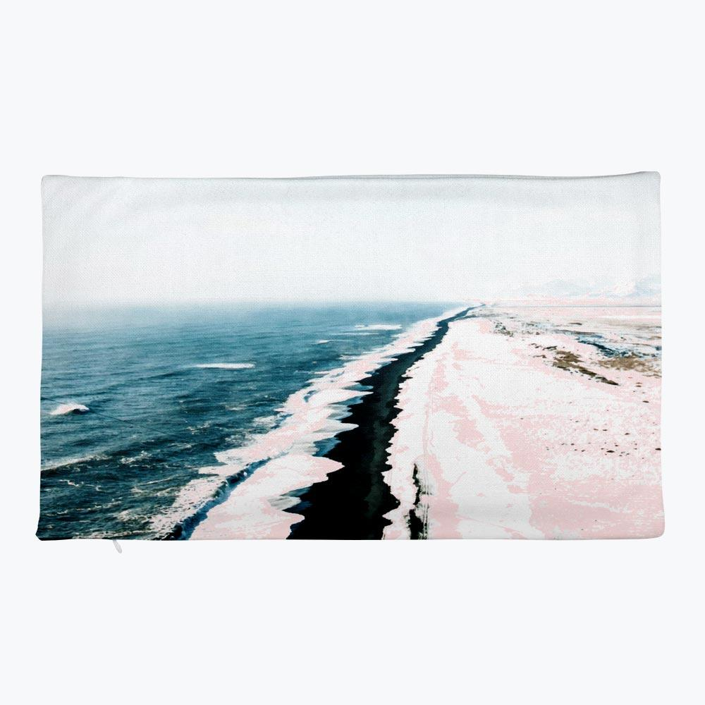 Pink Sand Rectangular Pillow Case only