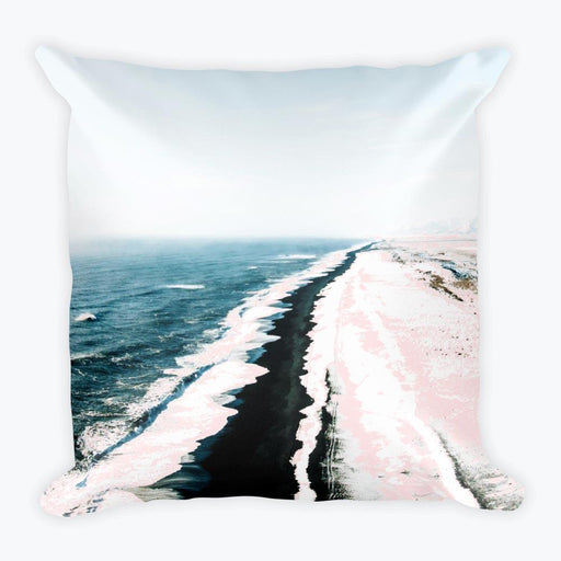 Pink Sand Square Pillow